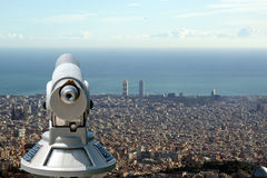 barcelona sikt Arkivfoton