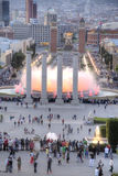 Barcelona. Singing fountains of Montjuic Royalty Free Stock Image