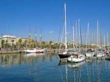 barcelona sjösida Fotografering för Bildbyråer