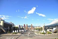 Barcelona sky. Image taken in Barcelona, Spain summer time Stock Photos