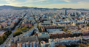 Barcelona sky view royalty free stock image