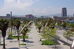 Barcelona-Skyline Lizenzfreie Stockfotografie