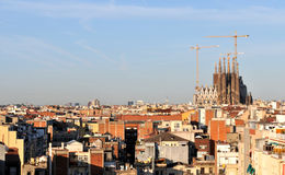 Skyline of Barcelona city in Spain Royalty Free Stock Image