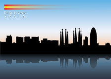 Barcelona-Skyline stock abbildung