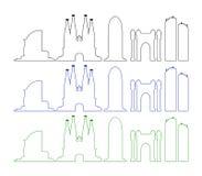 Barcelona skyline illustrated Royalty Free Stock Photography