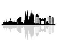 Barcelona skyline illustrated Stock Photo