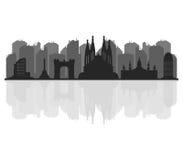 Barcelona skyline illustrated Stock Image