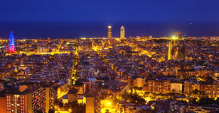 Barcelona skyline Royalty Free Stock Image
