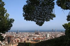 Barcelona skyline panorama Royalty Free Stock Photography