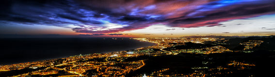 BARCELONA SKYLINE PANORAMA royalty free stock image
