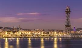 Barcelona skyline panorama Barcelona Spain Europe.  stock images