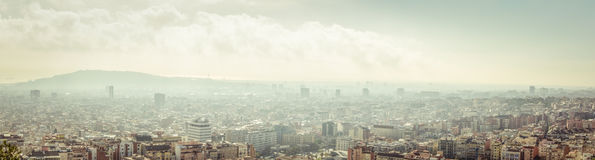 Barcelona skyline Stock Photography