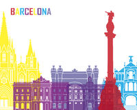 Barcelona skyline pop. In editable vector file Royalty Free Stock Images