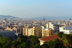 Barcelona skyline and Sagrada Familia, Spain Royalty Free Stock Photo