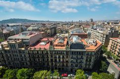 Barcelona skyline, Spain. Architecture of Barcelona city royalty free stock images