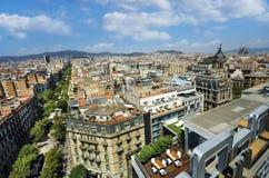 Barcelona skyline, Spain. Architecture of Barcelona city stock photos