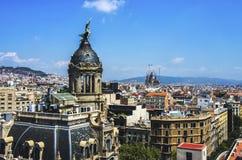 Barcelona skyline, Spain. Architecture of Barcelona city stock photography