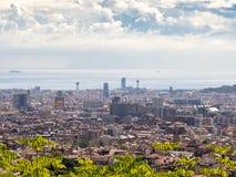 The Barcelona skyline. Barcelona, Spain - September 18, 2016. View of the Barcelona skyline, Spain stock photos