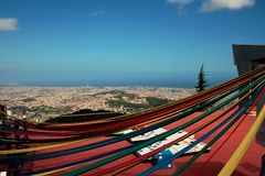 Barcelona skyline from Tibidabo Stock Photography