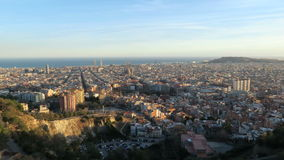 Barcelona skyline - Time Lapse, Spain stock footage
