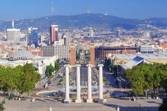 Barcelona skyline view. The Barcelona skyline view,Spain royalty free stock photos