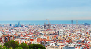 Barcelona skyline Stock Images