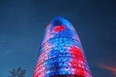 barcelona skyskrapa Royaltyfri Fotografi
