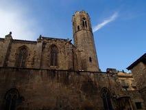 Barcelona slott royaltyfria bilder