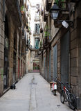 barcelona smal gata Arkivbild