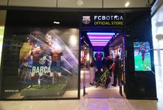 Barcelona soccer official store Stock Photography