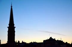 barcelona soluppgång Royaltyfria Bilder