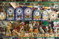 Barcelona souvenirs   in store window Royalty Free Stock Photography