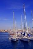 Barcelona, Spaanse haven Stock Afbeeldingen