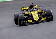 FORMULA ONE TEST DAYS 2018 - NICO HULKENBERG. BARCELONA, SPAIN – FEBRUARY 26, 2018: Nico Hulkenberg during Formula One Test Days that celebrates at Circuit of Stock Photography