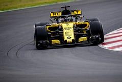 FORMULA ONE TEST DAYS 2018 - NICO HULKENBERG. BARCELONA, SPAIN – FEBRUARY 26, 2018: Nico Hulkenberg during Formula One Test Days that celebrates at Circuit of Stock Photo