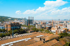 Barcelona, Spain. Aerial view of Barcelona and its skyline, Spain royalty free stock photos