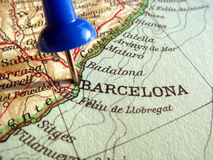 Barcelona, Spain. The way we looked at Barcelona in 1949 royalty free stock photography