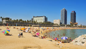 barcelona spain Royaltyfria Bilder