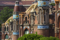 Barcelona - Spain. The Hospital de la Santa Creu i de Sant Pau in the Eixample district of Barcelona in the Catalonia region of Spain. The buildings dates from Royalty Free Stock Photography