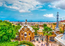 In Barcelona in Spain Stock Photography