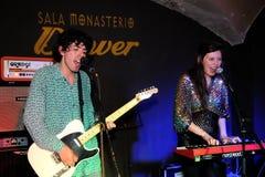 Denver band performs at Monasterio Stock Photos