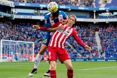 Fernando Torres plays at the La Liga match between RCD Espanyol and Atletico de Madrid Royalty Free Stock Photography