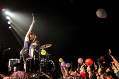 Matt and Kim band performs at Barcelona Stock Photography
