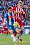 Torres plays at the La Liga match between RCD Espanyol and Atletico de Madrid Stock Images