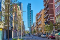 Barcelona, Spain - April 07, 2019: Buildings of Barcelona, Spain royalty free stock image