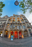 BARCELONA, SPAIN - APRIL 28: Exterior of the Gaudi Casa Batllo on April 28, 2016 in Barcelona, Spain Royalty Free Stock Images