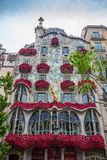 Barcelona, Spain - 24 April 2016: Exterior View of Casa Batllo in Barcelona. Stock Photo