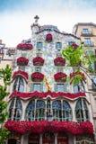 Barcelona, Spain - 24 April 2016: Exterior View of Casa Batllo in Barcelona. Stock Photos