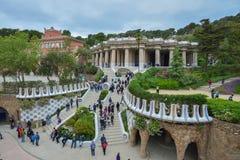 BARCELONA, SPAIN - APRIL 28:  Gaudi Parc Guell - Barcelona on April 28, 2016 in Barcelona, Spain Stock Photo