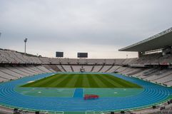 The olympic stadium in Barcelona Spain Stock Image